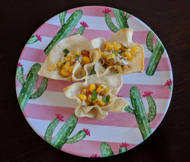 mexican street corn salad cups - Copy